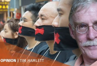 Tim Hamlett free speech protests Hong Kong Bar Association