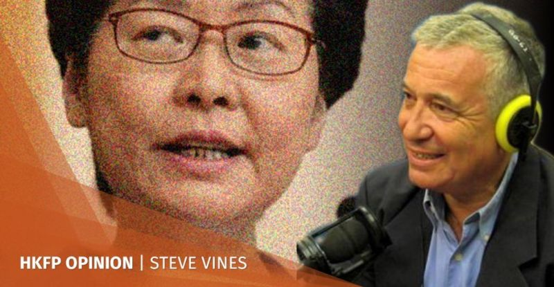 steve vines mask ban carrie lam