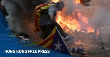 Catalonia Spain Hong Kong protests