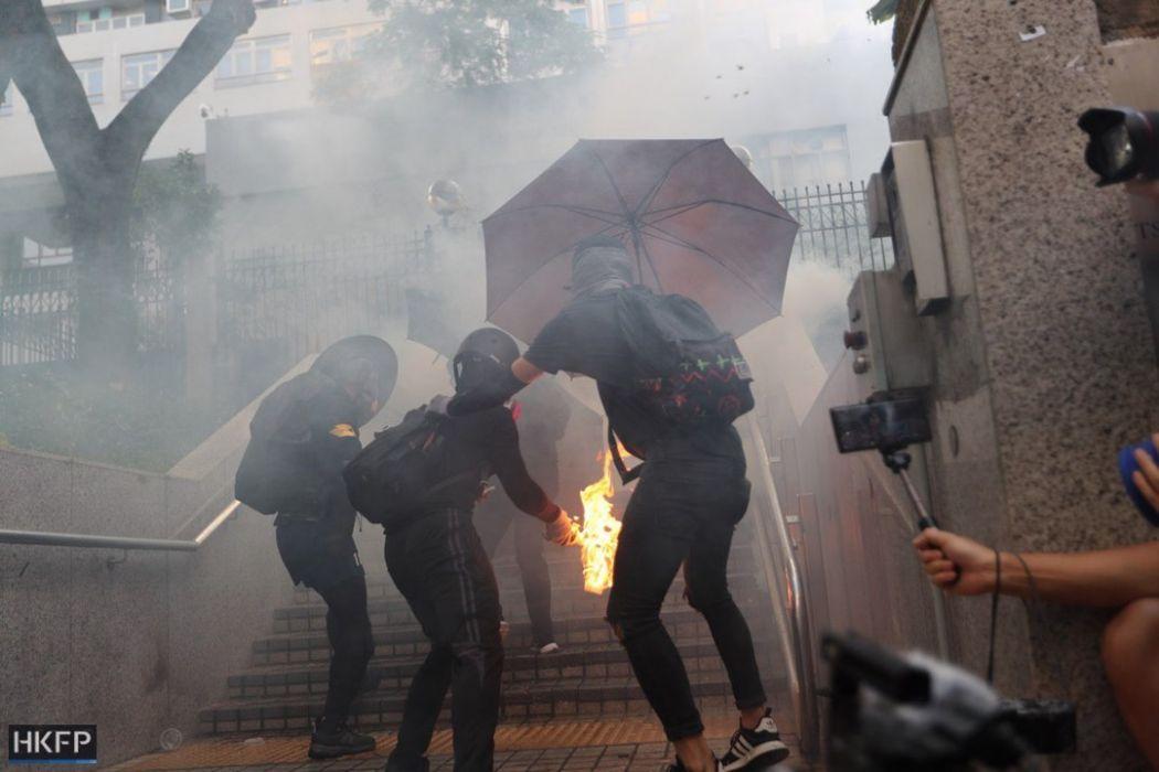 fire bomb molotov october 20 kowloon