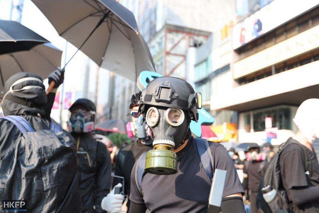 gas mask october 20 kowloon
