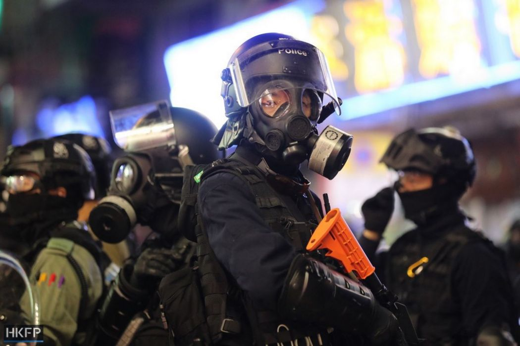 police gas mask october 20 kowloon