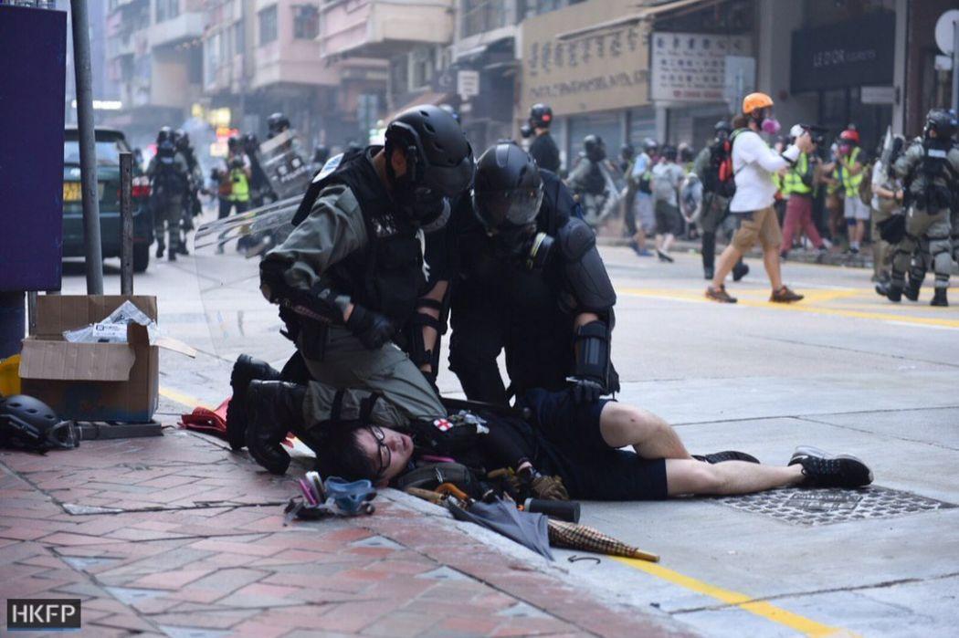 October 1 National Day protests Hong Kong Island protester arrest
