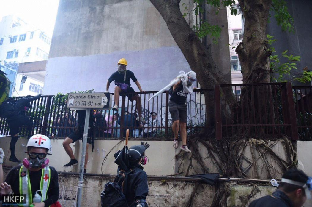October 1 National Day protests Hong Kong Island