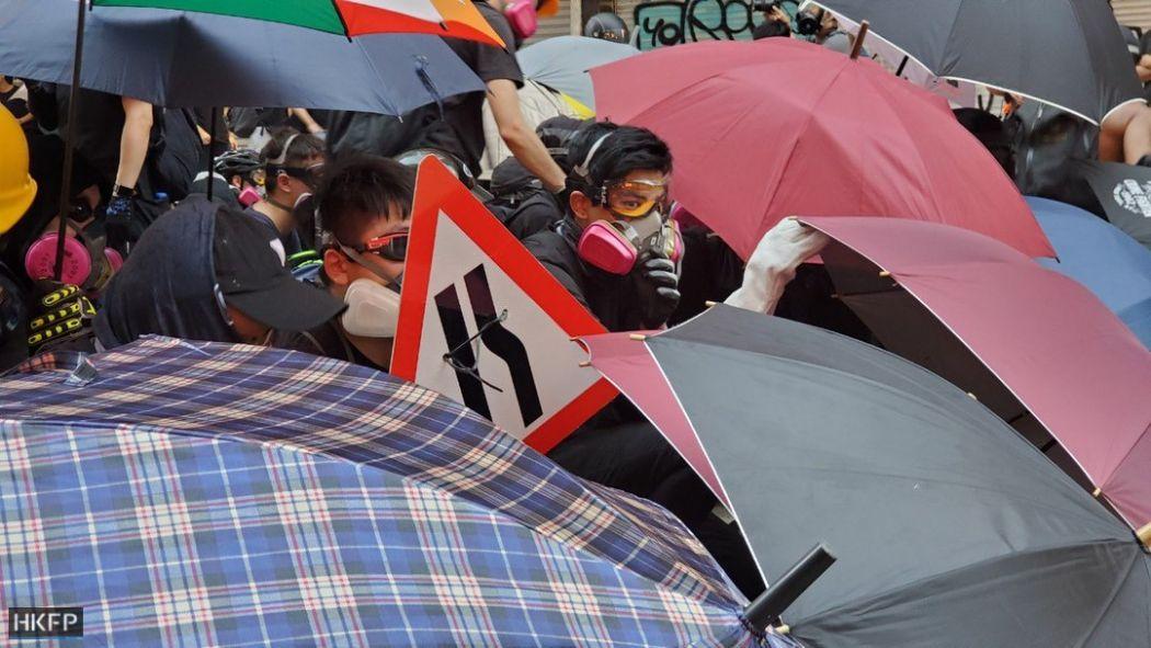 Jordan Kowloon October 1 protests protester umbrella