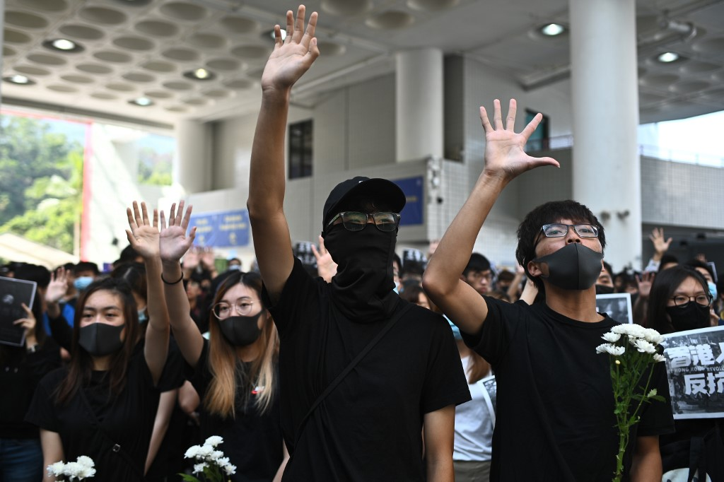 HKUST protest student death march