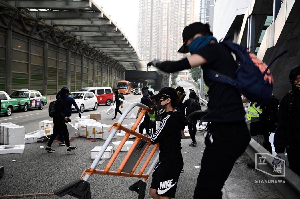 road block Tuen Mun