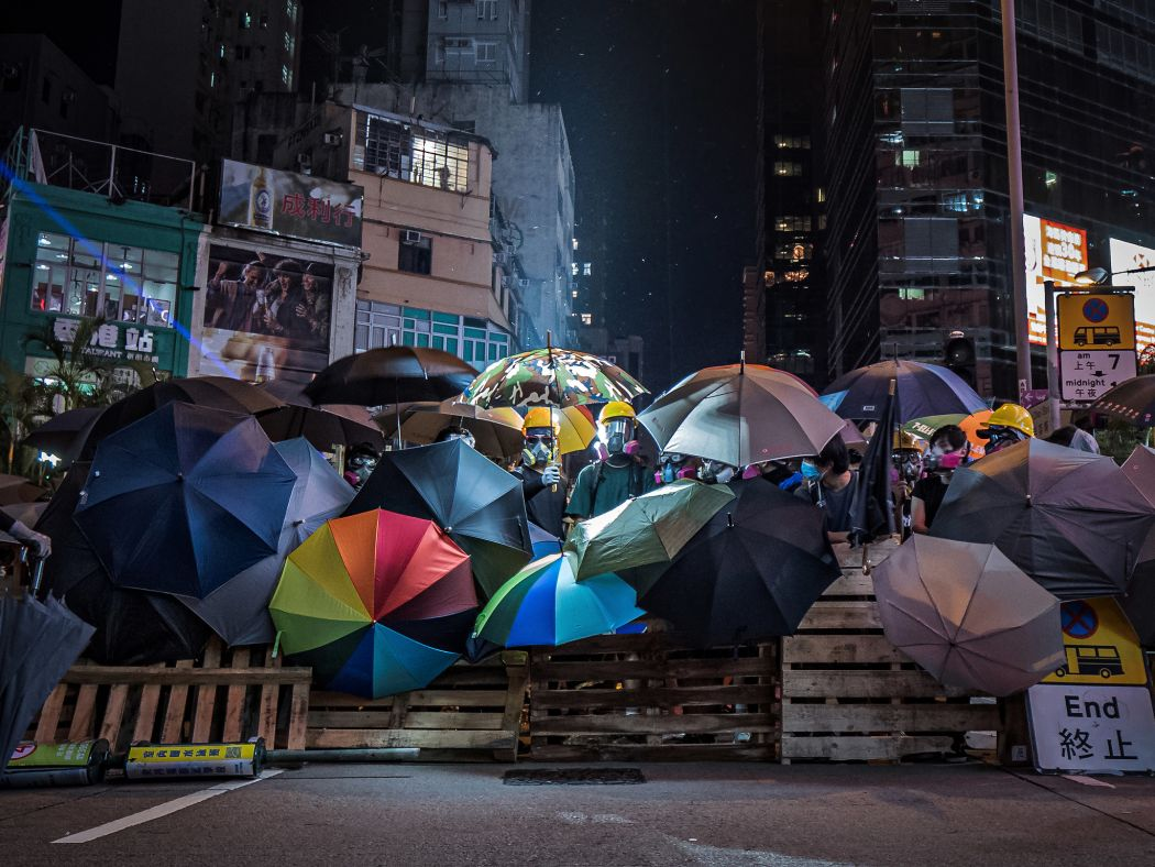 """September 6"" Prince Edward Mong Kok Police Station umbrellas roadblock defence line"