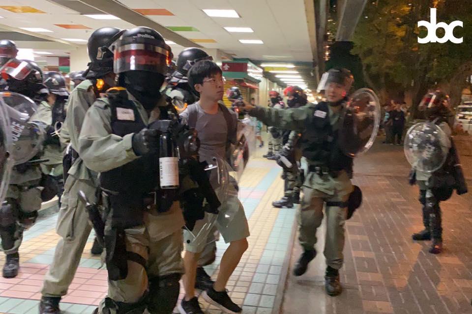 Riot police Tai Po Mega Mall