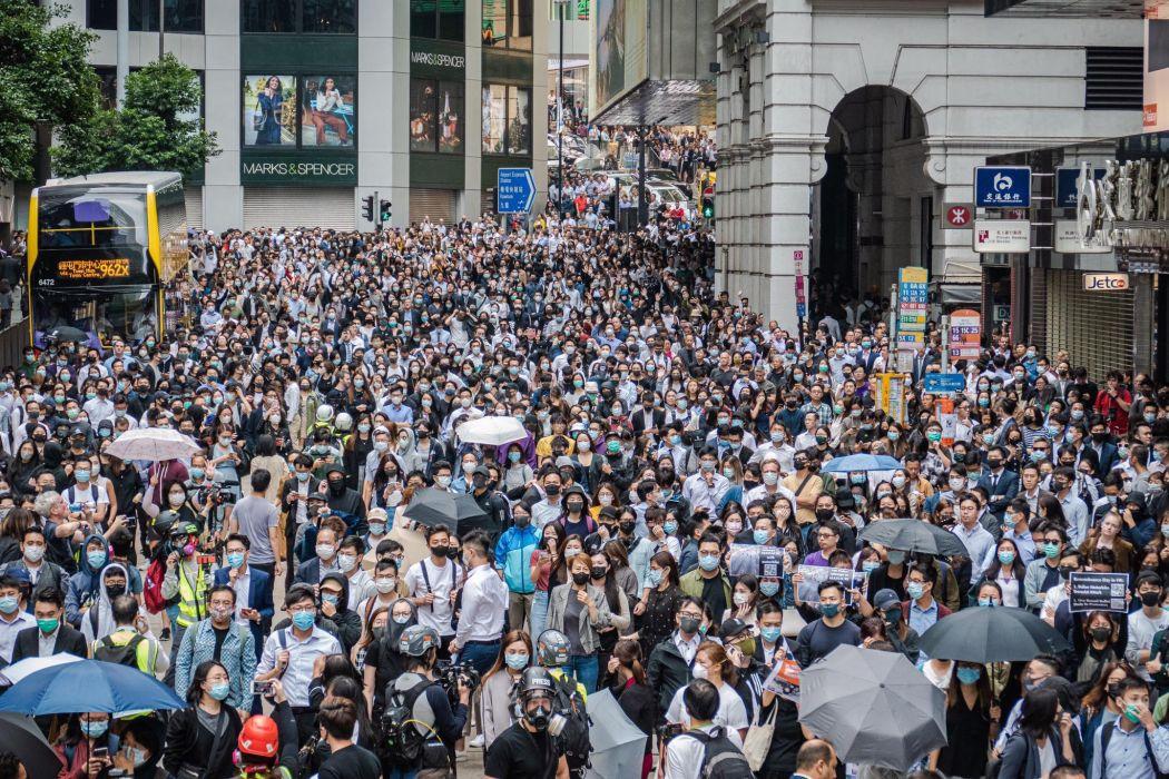 "November 12 Central Hong Kong protest office workers ""November 12"""