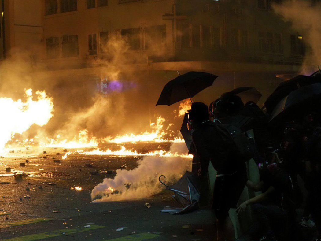 tear gas Jordan November 18
