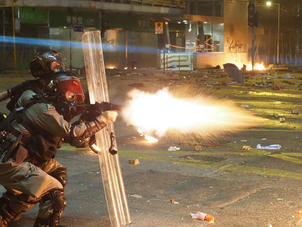 tear gas Yau Ma Tei2 November 18