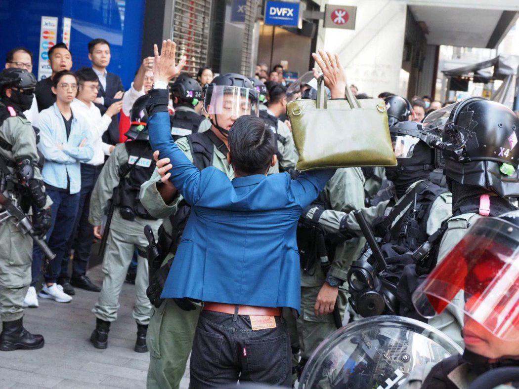 november 11 Central riot police