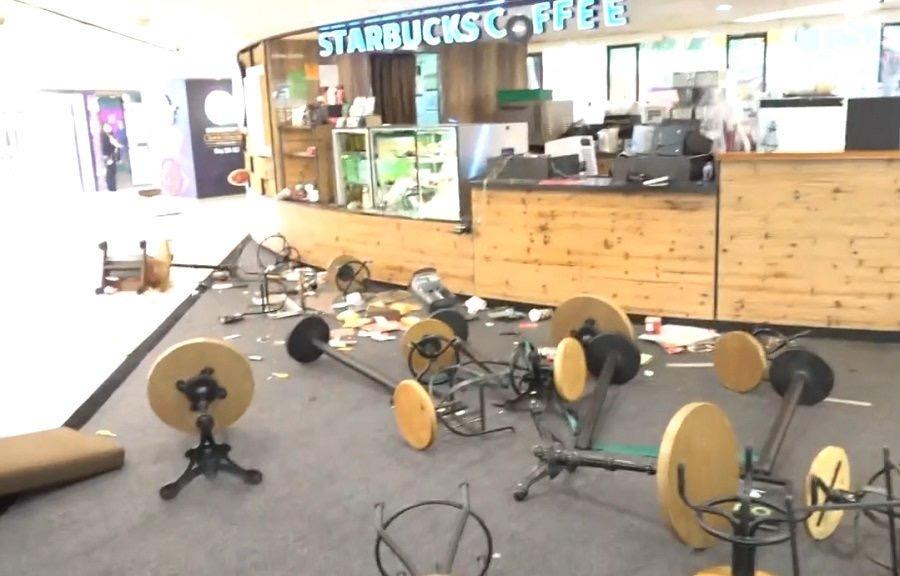 Starbucks Tsuen Wan trashed