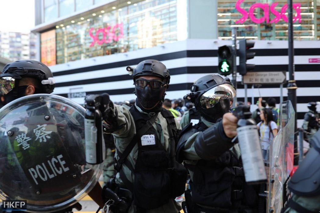 police pepper spray november 2 island