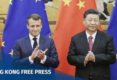 Chinese President Xi Jinping and French President Emmanuel Macron
