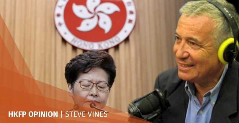Stephen Steve Vines Carrie Lam