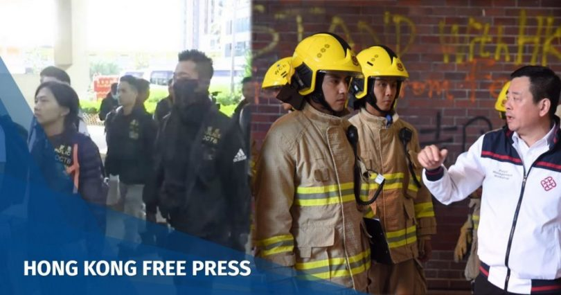 Ben Young firefighters police PolyU
