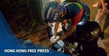 Medics first aid protest tear gas Isaac Yee