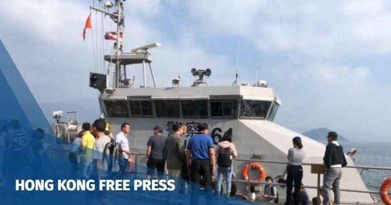 Police vessel at Ma Liu Shui Ferry Pier
