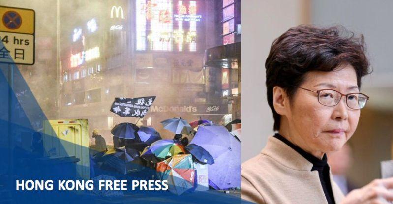 Carrie Lam protest PolyU Hong Kong polytechnic university