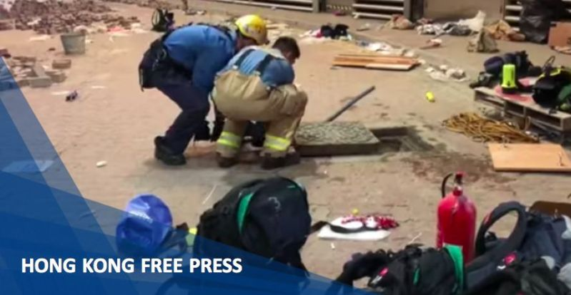 """November 19"" PolyU Polytechnic University Hong Kong protesters escape sewers firefighters"