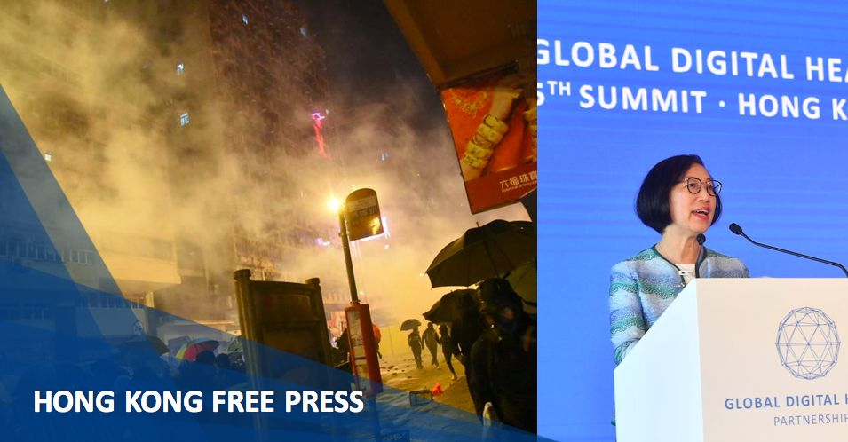 Sophia Chan tear gas