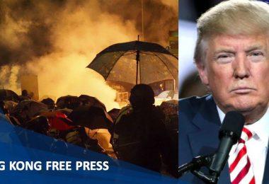 Donald Trump Hong Kong protests PLA Xi Jinping Chinese President