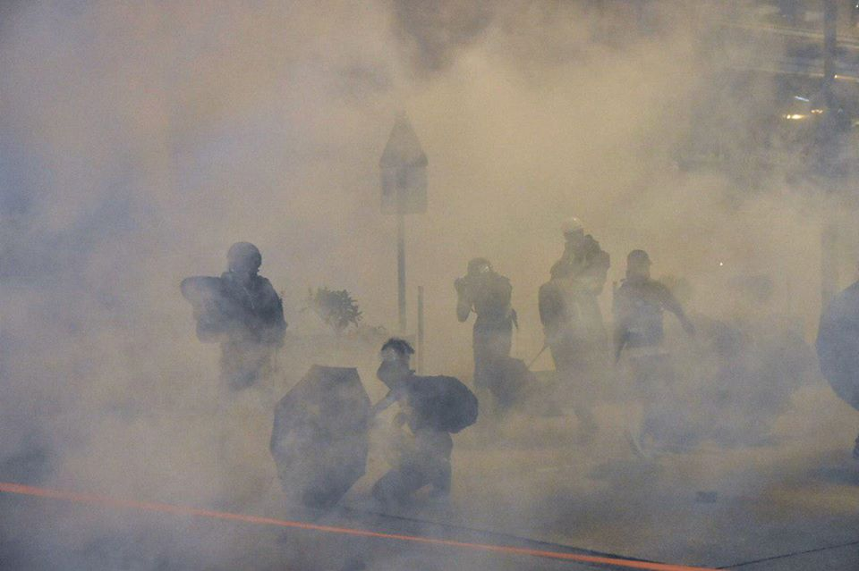 Yau Ma Tei. november 11 tear gas