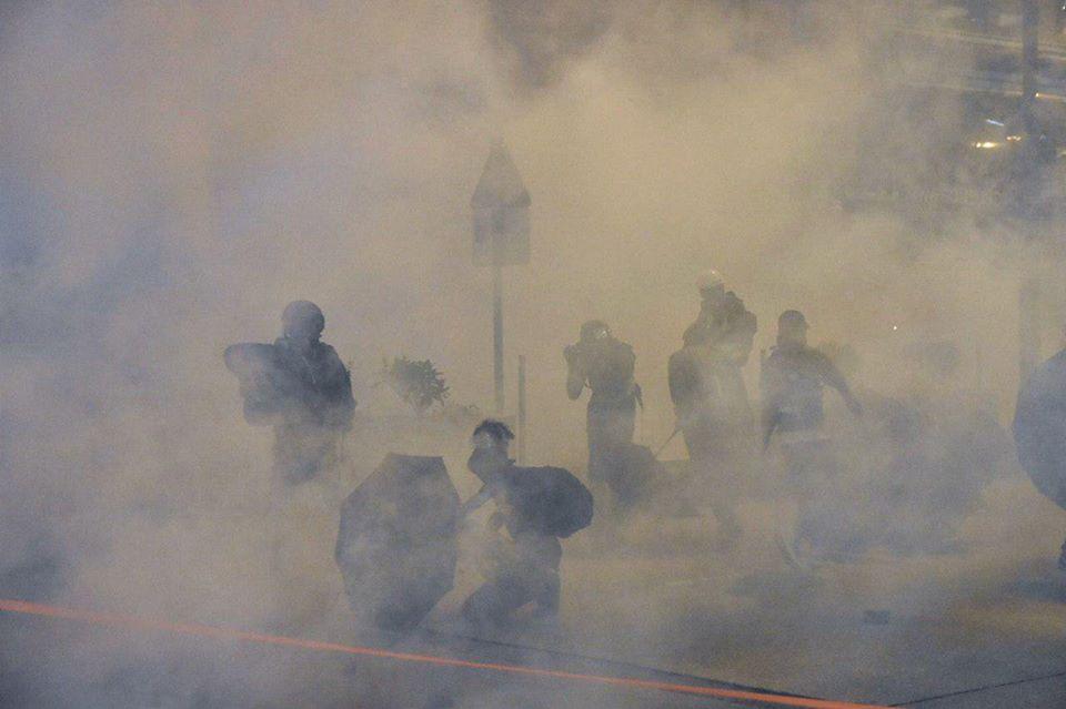 Yau Ma Tei. november 11 tear gas