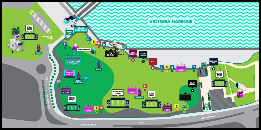 clockenflap 2019 map