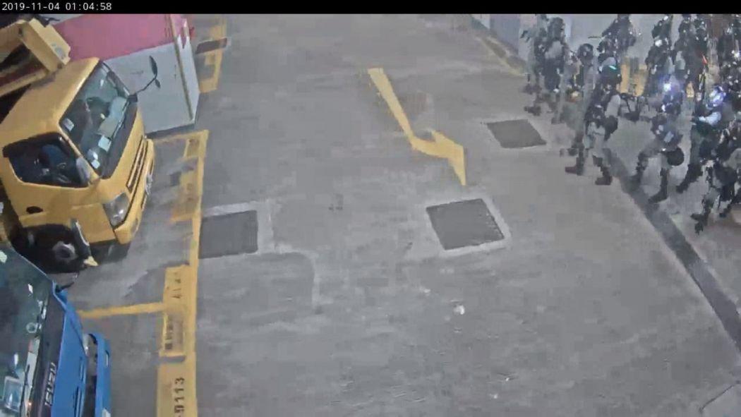 riot police car park