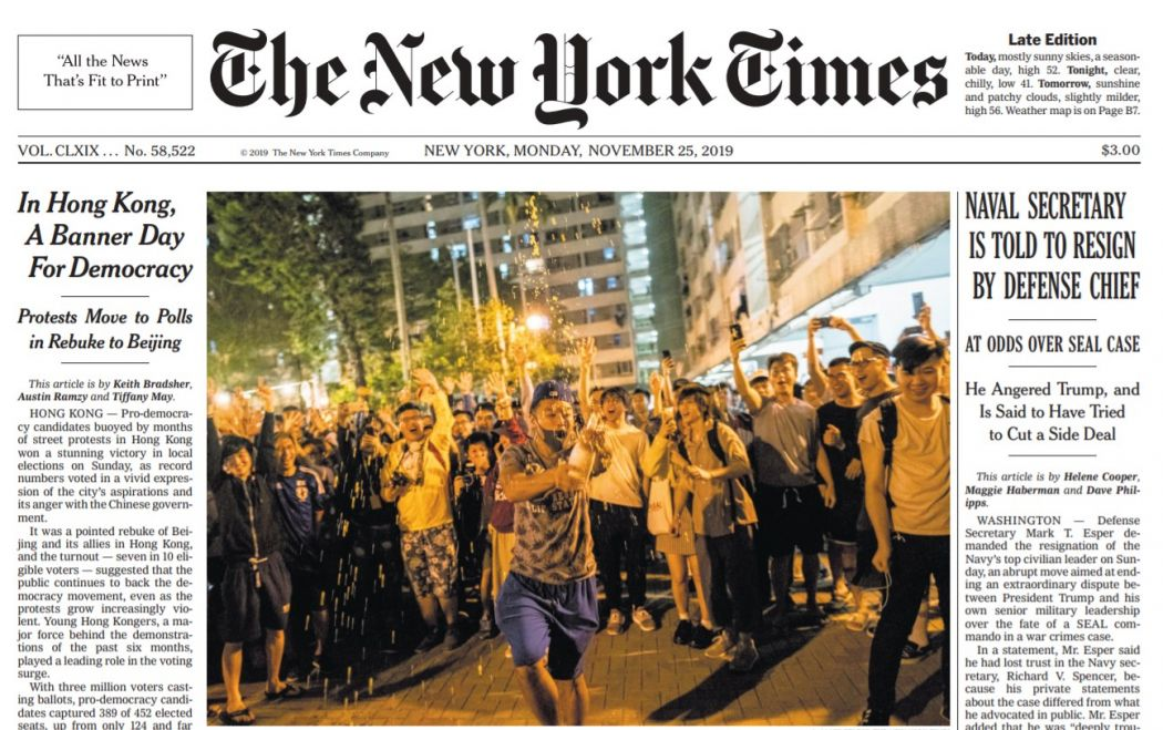 new york times district council election front page