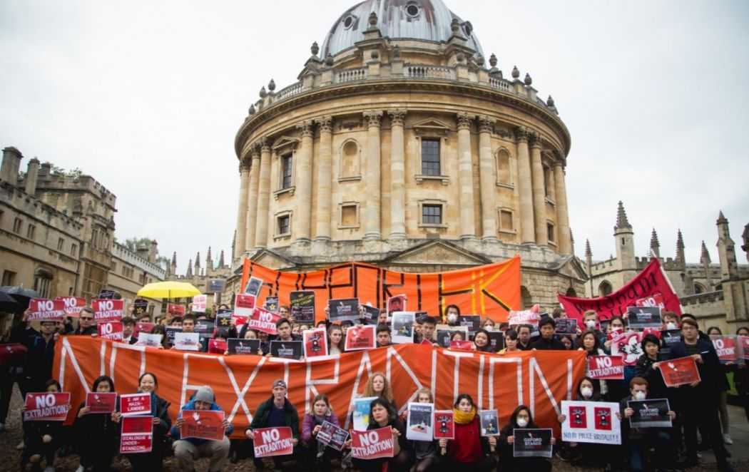 protest in June at Oxford University