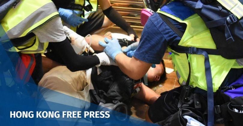"Shue Yan University student first-aider injured ""November 2"""
