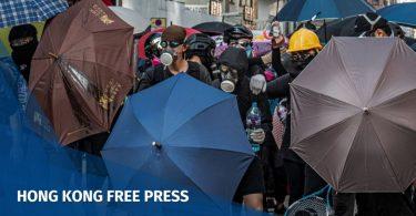 China protests Hong Kong