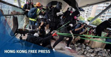 """Hong Kong protesters catapult """"November 12"""""""