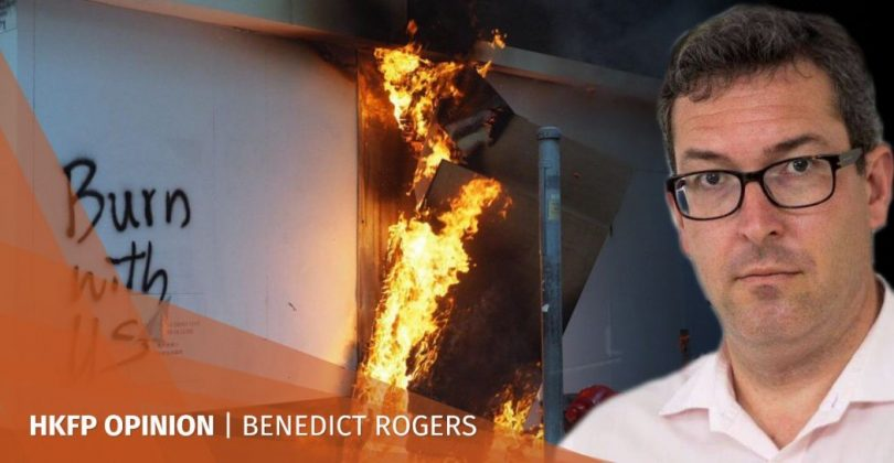 Benedict Rogers burn with us Hong Kong protest brink collapse