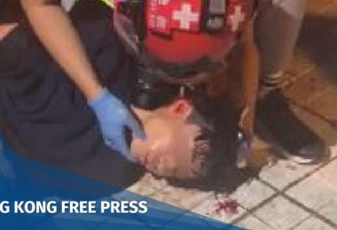 tin shui wai tear gas head injury november 13