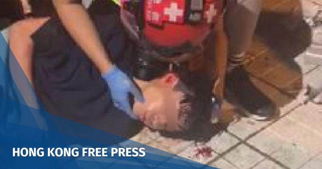 tin shui wai tear gas head injury november 13
