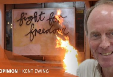 Kent Ewing protest Hong Kong