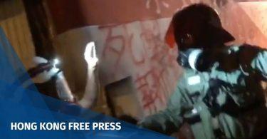 Commercial radio Hong Kong police journalist reporter Mong Kok protest sponge grenade