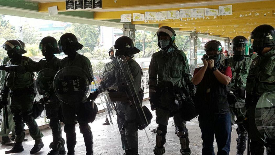 "Fanling ""November 12"" protest riot police"