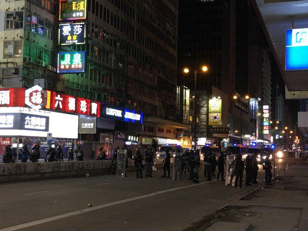 "Mong Kok ""November 15"" protest riot police shields"