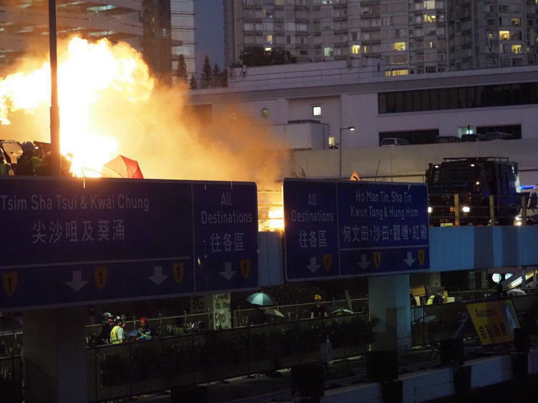 """November 17"" Hong Kong Polytechnic University Hung Hom protester police water cannon"