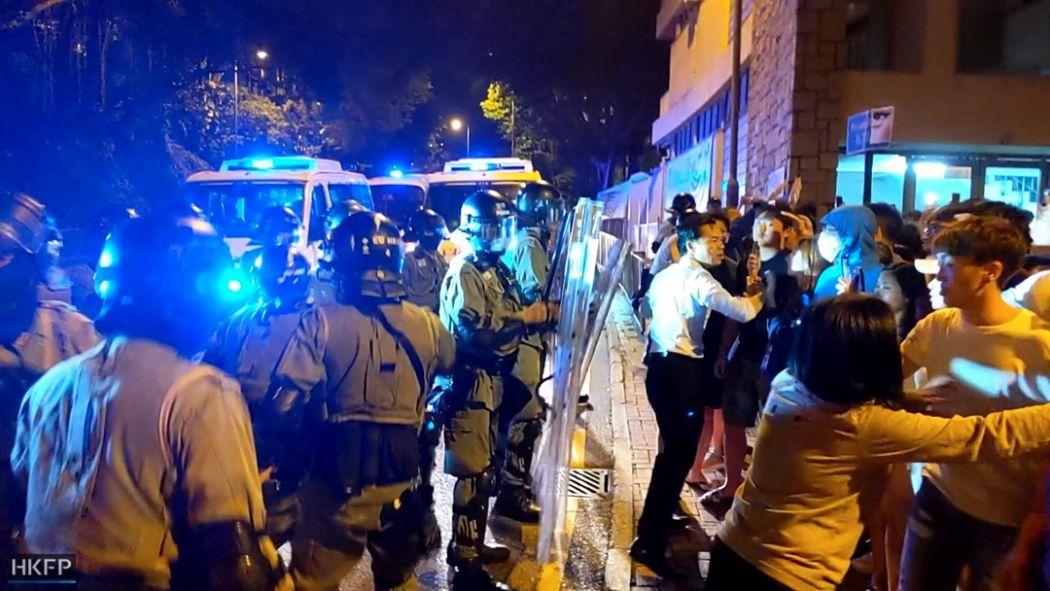 police hku pepper spray residential hall