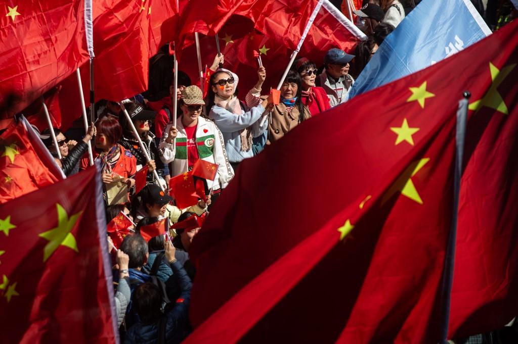 pro-Beijing rally