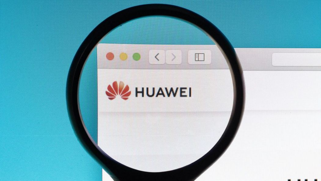 huawei logo magnifying glass