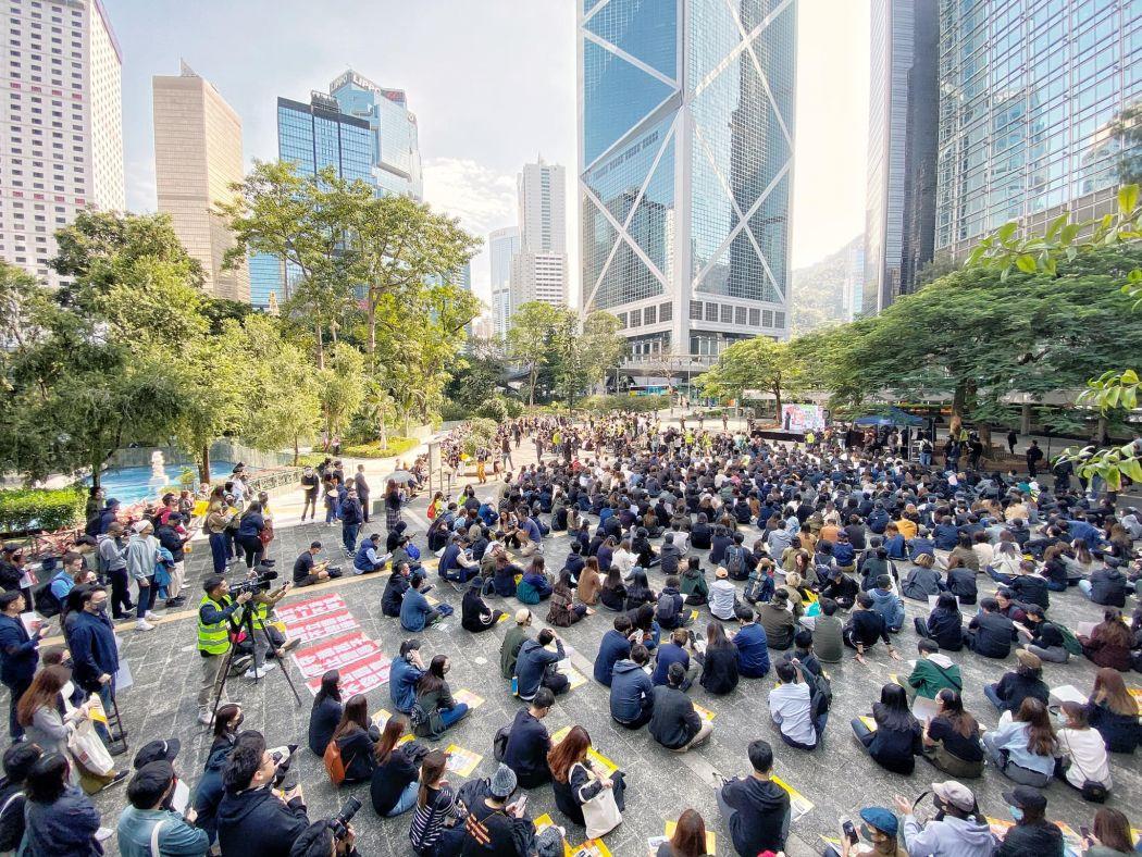 advertising sector strike rally