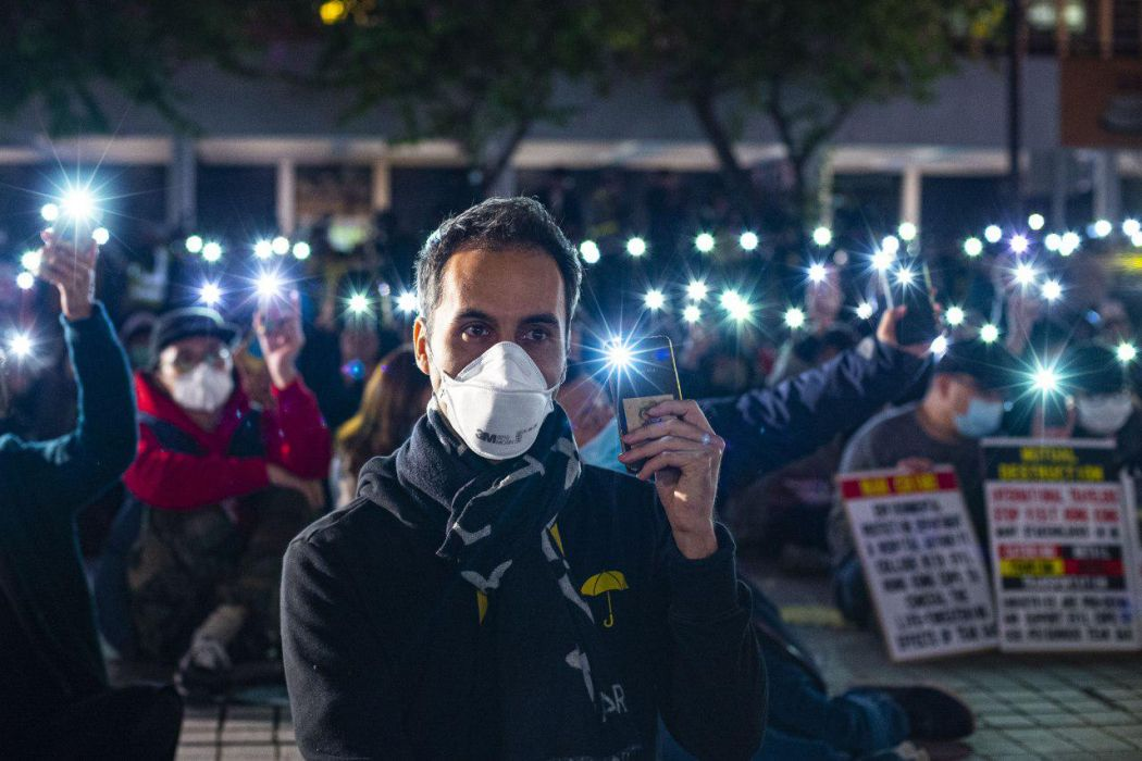 December 6 tear gas rally central